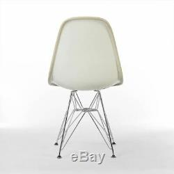 Orange Herman Miller Original Eames Upholstered DSR Side Shell Chair