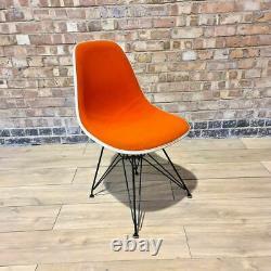 Orange Herman Miller Vintage Original Eames Upholstered DSR Dining Side Shell