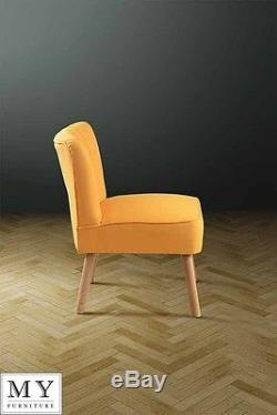 Oyster Retro Occasional Upholstered Chair Orange / Lime / Mustard Yellow Lola