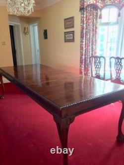 Reproduction Antique Dining Table And 10 Chairs