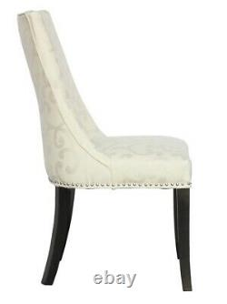 SET OF 6 UPHOLSTERED DINING CHAIRS IN VERY GOOD CONDITION COST £169 each