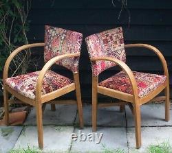 Set 4 Bridge / Dining Chairs 1920s Newly upholstered in GP&J Baker Rio Velvet