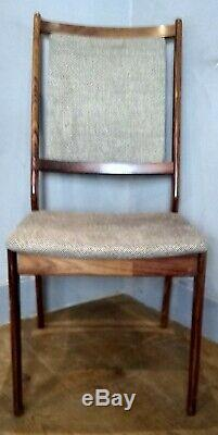 Set Of 4 Mid century Danish Rosewood Spottrup Upholstered Dining Chairs