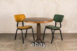 Set Of 4 Saffron Yellow Dining Chairs Upholstered In Cross Stitch Faux Leather