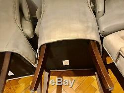 Set Of 6 Upholstered Ralph Lauren Dining Chairs