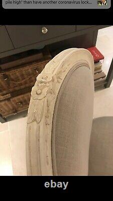 Set Of 8 Dining Chairs Upholstered In Kate Forman Linen