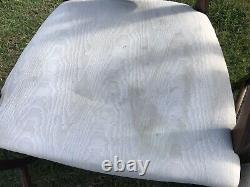 Set Of 8 Sheraton Revival Style Vintage Chairs, 2 Carvers
