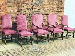 Set Of 8 Upholstered French Dining Chairs