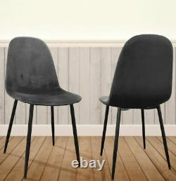 Set Of Four Velvet Egg Shaped Dining Chairs For Contemporary Dining Rooms