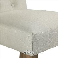Set of 2 Fabric Dining Chairs Upholstered withTufted Padded Seat Home/Kitchen/Cafe