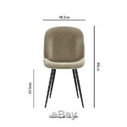 Set of 2 Mink Velvet Dining Chairs with Black Legs Jenna JNN004M