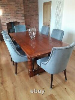 Set of 2 luxury Lillian August Couture upholstered velvet wide dining chairs
