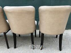 Set of 4 Upholstered Cafe Dining Chairs (Bar / Restaurant / Bistro / Pub Chairs)