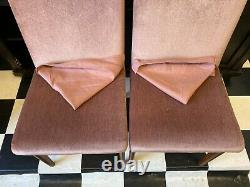 Set of 4x Alfred Cox mid century vintage teak upholstered dining chairs Delivery