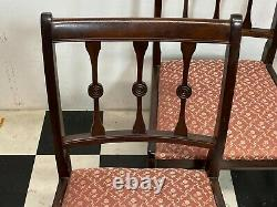 Set of 4x antique regency style upholstered mahogany dining chairs Delivery