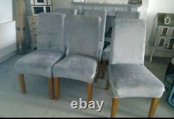 Set of 6 upholstered Dining Chairs With Loose Covers