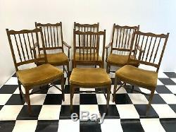 Set of 6x Stag Madrigal upholstered dining chairs inc carvers Delivery Available