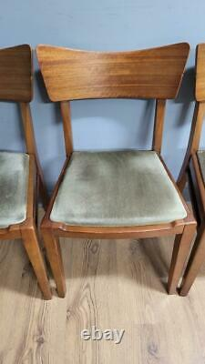 Six Mid Century Teak G Plan Butterfly Dining Chairs Upholstered Seats Retro