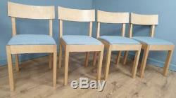 Smashing Set of Four Dining Chairs Re-upholstered