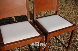 Smashing Set of Four Re-upholstered Panel Backed Kitchen Dining Chairs