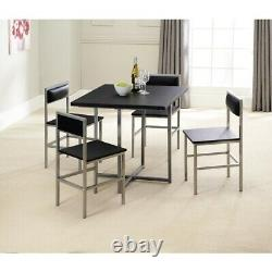 Stowaway Dining Set Table And 4 Chairs Compact Space Saving Metal Furniture Set