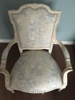Two french chairs newly upholstered