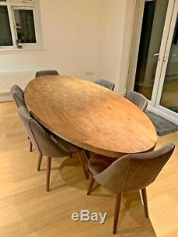 Upholstered Dark Gray Lule Made. Com dining chairs RRP £600 (6 chairs)