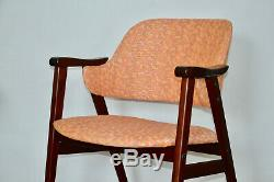 Upholstered Pink Accent Comfort Chair Office Dining Room Made in Sweden, 1980s
