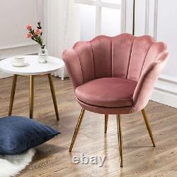 Upholstered Velvet Tub Accent Dining Chair Sofa Armchair Make Up Desk Bedroom
