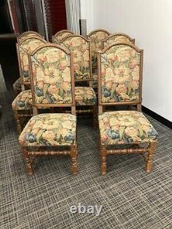 Upholstered oak dining room chairs set of 8