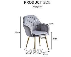 Velvet Padded Upholstered Armchair for Dining/Living Room, Office Chair-T05