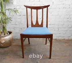Vintage Mid Century Modern Danish Era G Plan Brasilia Upholstered Dining Chairs