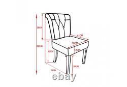 Vintage Patchwork Chair Upholstered Dining Chairs Retro Funky Wooden Seat Set 2