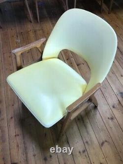 Vintage Retro Benchair Dining Desk Armchair 1960s Mid-Century Upholstered