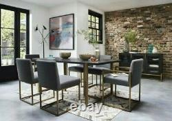 Vogue Dining Table and 4 Upholstered Chairs