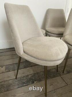 West Elm Finley Upholstered Dining Chairs x 4