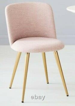 West Elm Lila Upholstered Dining Chair x2