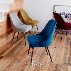 West Elm Mid-Century Upholstered Dining Chair Velvet Set Of 4