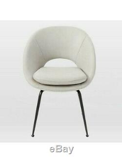 West elm Orb Upholstered Dining Chair, Cement Rrp £450