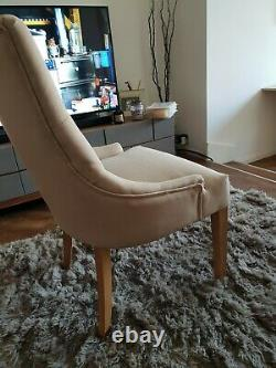 Willis & Gambier Paris Cream Upholstered Button Back Dinning Chair (6 available)