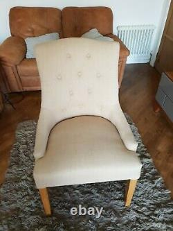 Willis Gambier Paris Cream Upholstered Button Back Dinning Chairs 6 available